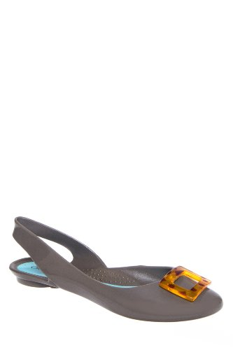 Kennedy Round Toe Slingback Jelly Flat Shoe