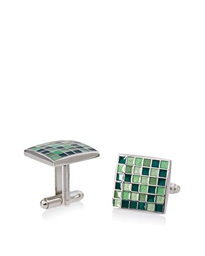 L2 by LOMA Green Mosaic Checker Board Cufflinks