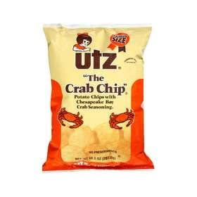 UTZ The Crab Chip Potato Chip Family Size 4 pack (10.5 oz each)