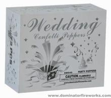 Wedding Confetti Poppers Silver Box of 72 Poppers