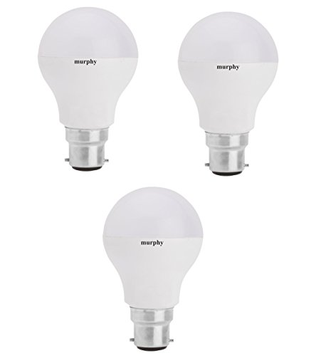 Murphy-12-W-B22-LED-Bulb-(Cool-White,-Pack-of-3)