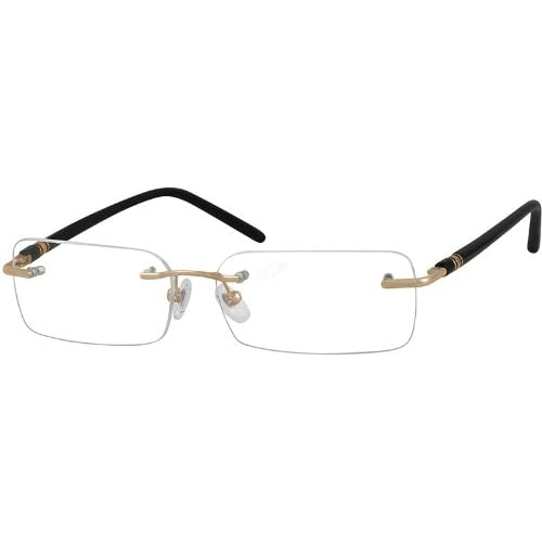 Amazon.com: Zenni Optical Eyeglasses 393014 Rimless Metal ...