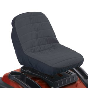Classic Accessories 12324 Deluxe Tractor Seat Cover, Medium, Black