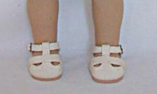 Ivory Double Strap (Kit) Shoes for 18 Inch Doll - 1