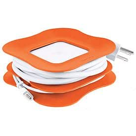 Quirky PowerCurl - 60w Clip-On Cord Wrap for Apple and Magsafe Power Adapter Orange