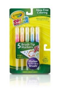 Crayola Bright Color Wonder Brush Tip Markers