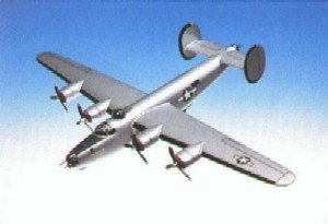 Daron Worldwide Trading A1272 B-24J Liberator Silver 1/72 Scale AIRCRAFT