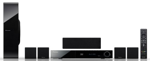 Pioneer BCS-303 - 5.1 Blu-ray 3D Home Cinema System with Virtual 3D Sound, Built-In Wireless LAN, Network Streaming, 4 Compact Speakers and Karaoke