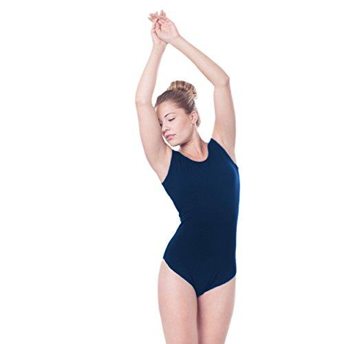 Gymnastikanzug Damen Ballett Trikot Tanzanzug Body Ärmellos Turnanzüge Bunte Farben