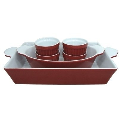 6 Piece Stoneware Bakeware Set