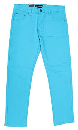 Mens Color Skinny Jeans (30/30, Turqoise)