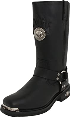 Harley-Davidson Men's Delinquent Harness Boot,Black,7 M