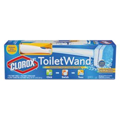 * Toilet Wand Kit: Wand, Storage Caddy & 6 Refill Heads, White волшебное кольцо