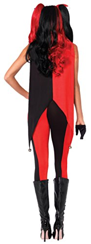 Leg Avenue Womens Sexy Evil Jingle Jester Clown Catsuit Adults Halloween Costume