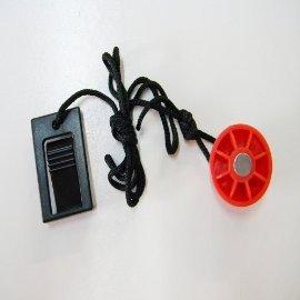 "Treadmill Key 1"" Round Red Magnet"