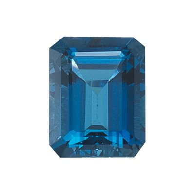 0.60 Cts of AAA 6x4 mm Emerald Loose London Blue