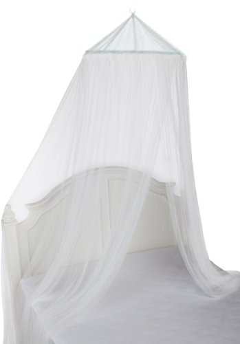 Uhome 2014 style Baby Mosquito Net Baby Toddler Bed Crib Canopy Netting White Dome hanging mosquito Soft & breathable - 1