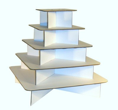 Wedding Cupcake Stand - Square White Eco Friendly