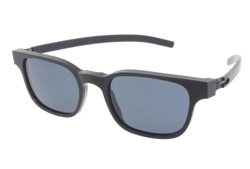 ic! Berlin Sunglasses Klavierspieler Klaus Matte Black with Grey Nylon Glass