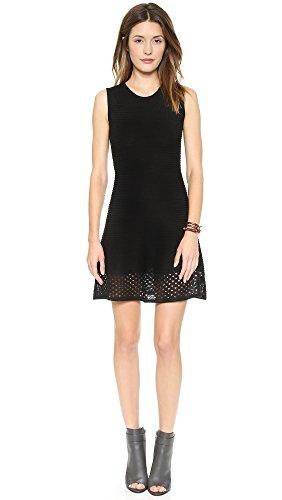 Bb Dakota Women'S Aiden Sweater Dress With Drop Needle Hem, Black, X-Small
