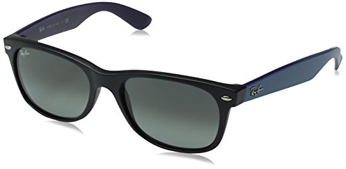 Ray-Ban 0RB2132 Square Sunglasses, Matte Black Grey Gradient & Dark Grey, 55 mm