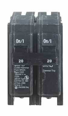 Cutler Hammer Br220 Double Pole Circuit Breaker