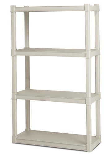 Images for Sterilite 4-Shelf Shelving Unit, Platinum