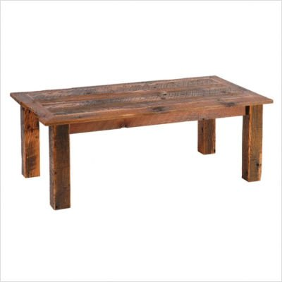 Fireside Lodge Reclaimed Barnwood Open Coffee Table Set B140