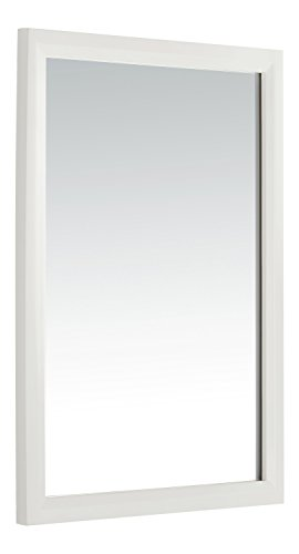 Simpli Home Urban Loft Bath Vanity Mirror, White