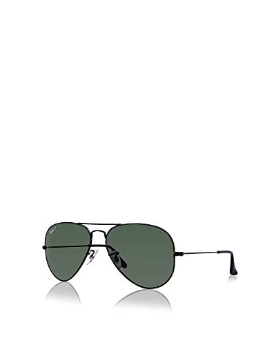Ray-Ban Classic Aviator Sunglasses, Black/Green