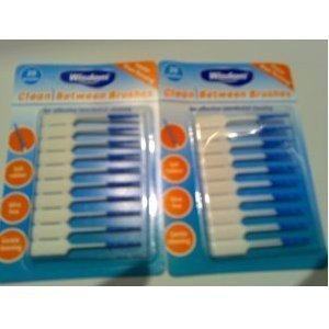 2 Packs = 40 Wisdom Clean Between Brushes - easy to use - Blue Fine