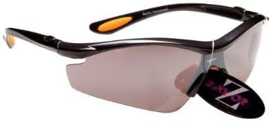 RayZor Professional Lightweight UV400 Gun Metal Grey Sports Wrap Cycling Sunglasses With a Smoked Mi