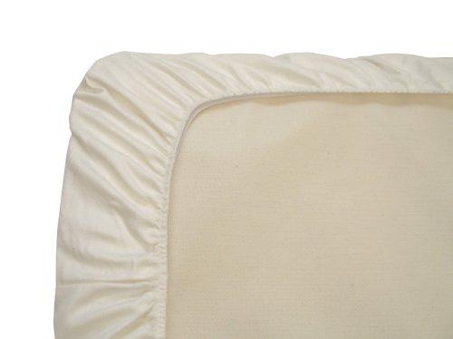 Naturepedic Organic Cotton Portable Crib Fitted Sheet, Ivory