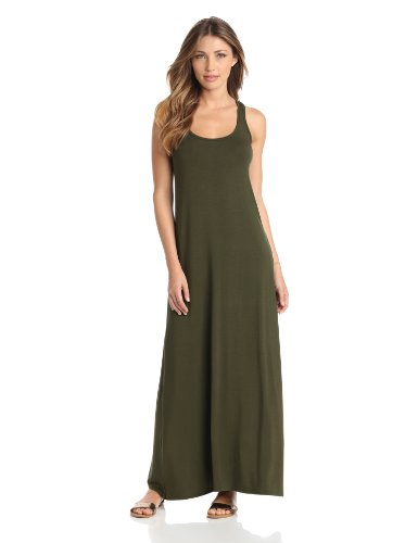 Michael Stars Women's Stella Scoop Neck Maxi Dress, Combat, Medium