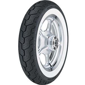 Dunlop D402 Harley-Davidson Whitewall Rear Tire - MU85B-16/Wide White Wall