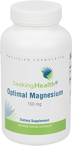 Optimal Magnesium | Best Magnesium Supplement | Provides 150 mg Pure Magnesium Per Dose | 100 Easy-To-Swallow Vegetarian Capsules | Free of Common Allergens and Magnesium Stearate | Physician Formulated | Seeking Health