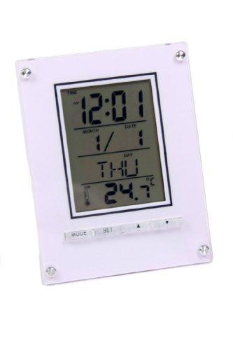 Elektronischer Wecker Digital mit Stiftehalter Uhrzeit Datum & Temperatur inkl. Batterie