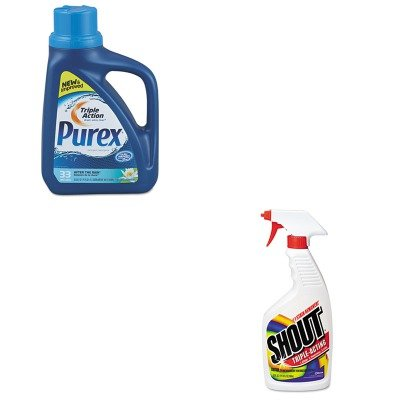 KITDPR04789DRACB022514CT - Value Kit - Purex Liquid HE Detergent (DPR04789) and Shout Laundry Stain Remover (DRACB022514CT) kitmmmc60stpac103637 value kit scotch value desktop tape dispenser mmmc60st and pacon riverside construction paper pac103637