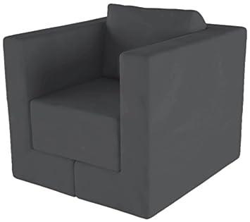 FEYDOM FEY600012 Multifunktionsmöbel Q6 Sessel, Liege, Lounge-Sitzgruppe, Veloursstoff, dunkelgrau