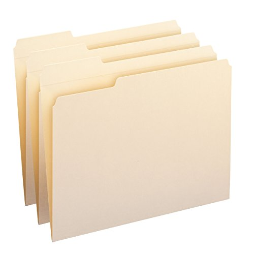 Smead File Folders, Reinforced 1/3-Cut Tab Left Position, Letter Size, Manila, 100 Per Box (10335) (File Folders Left Tab Position compare prices)
