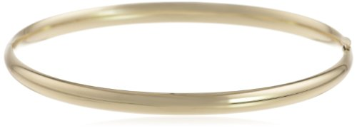 "Duragold 14k Yellow Gold 5mm Polished Bangle Bracelet, 2.45"": Jewelry"