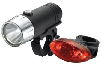 XLC 1 Watt Ultra Luminance Headlight w/ 4 LED Ultra Bright Tail light Combo-Pack.