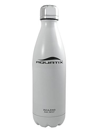 White 17 Oz Ultimate Sport Bottles Personal Hydration Easy Best Ever Insulated Eco-friendly Water Bottle on Amazon Won't Leak or Sweat Try It Risk Free 100% Pure & Safe Stainless Steel Won't Rust or Crack, No Metal Taste, BPA & Toxin-free. Keep Drinks Cold 24 Hrs, Hot 12 Hrs Perfect for Yoga Soccer Basketball Fitness Exercise Football Golf Outdoor Hiking Rock Climbing Hunting Fishing Softball Baseball Maximum Chill Factor