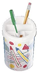 Neil Enterprises Snapins Acrylic Snap Together Children Craft Pencil Cup, Clear, Pack of 12