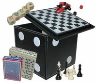 5-in-1 Dice Cube Game Set, 4.75""