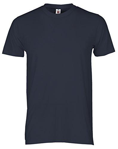 T-Shirt Da Lavoro Maglietta Manica Corta Stretta Cotone Girocollo Payper Print, Colore: Navy, Taglia: M