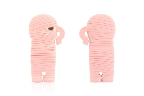 Bone Collection Mummy Wrap Headphone Cord / Wire Organiser (Cell Phone And Electronic Devices Accessory), Pink