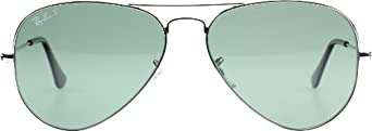 Ray-Ban Mens Aviator Large Metal Sunglasses, Silver/Grey Gradient, One Size Fits All