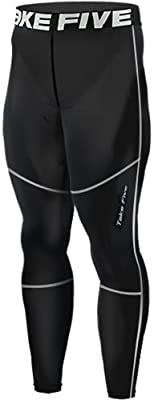 New 156 Skin Tights Compression Leggings Base Layer Black Running Pants Mens
