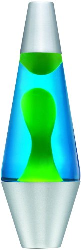 Lava Lite 2124 Classic 14.5-Inch 20-Ounce Silver Lava Lamp, Yellow Wax/Blue Liquid
